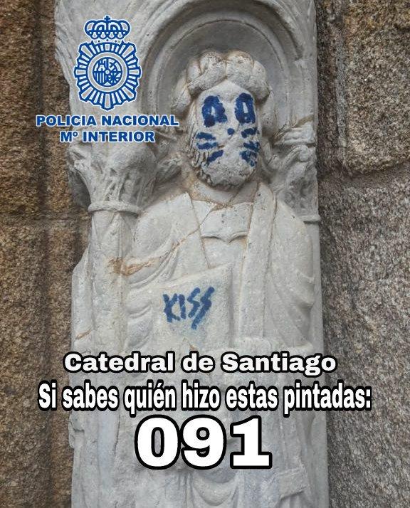 vandalizan-iglesia-medieval-grafiti-integrante-kiss-santiago-compostela-espana