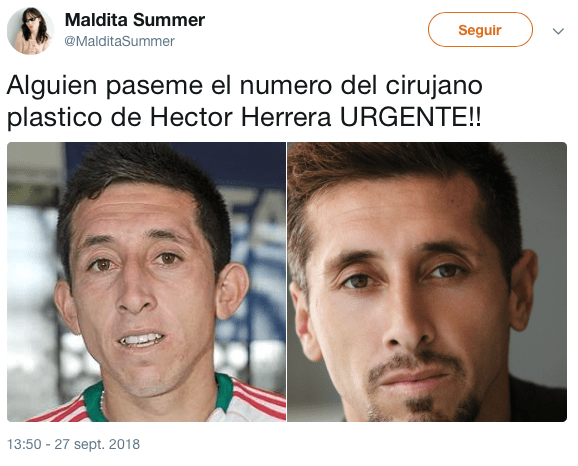 Estos memes te harán tan guapo como a Héctor Herrera