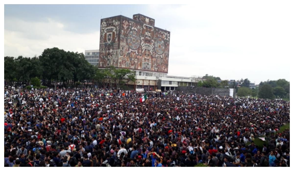 Fotos de la marcha en la UNAM Te harán gritar Goya