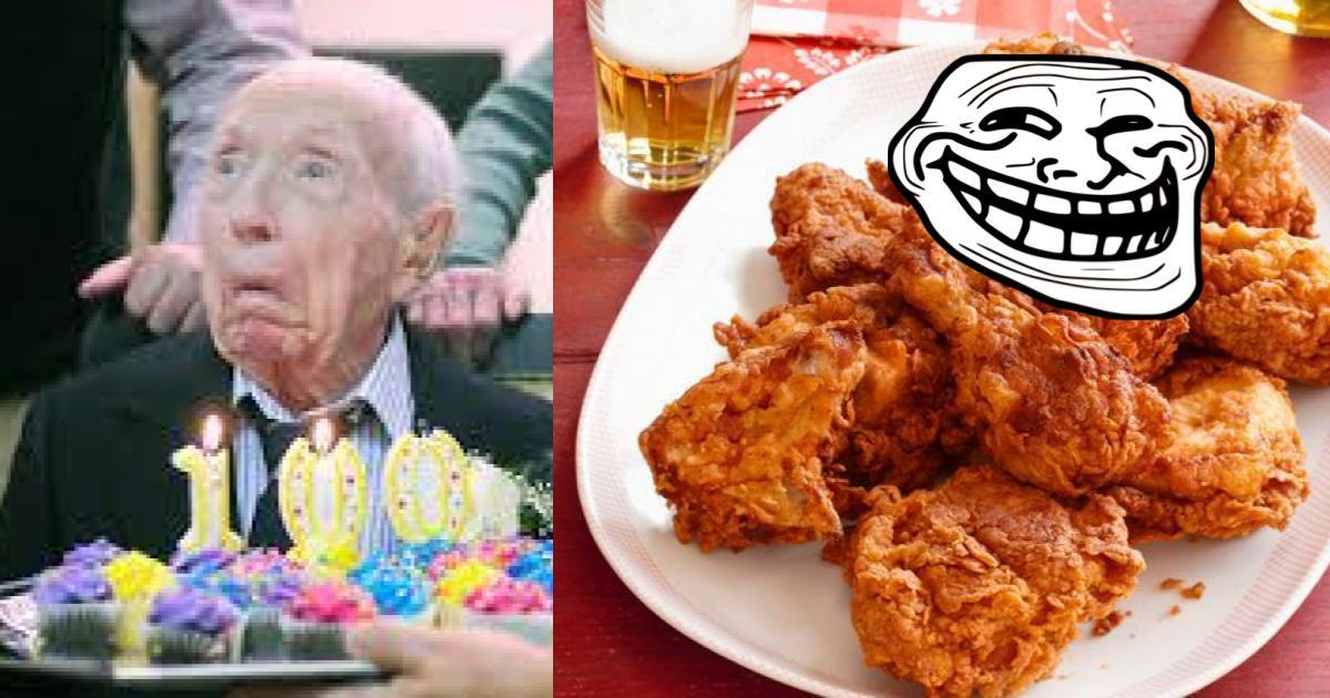 Restaurante regala comida de por vida a abuelito de 100 años