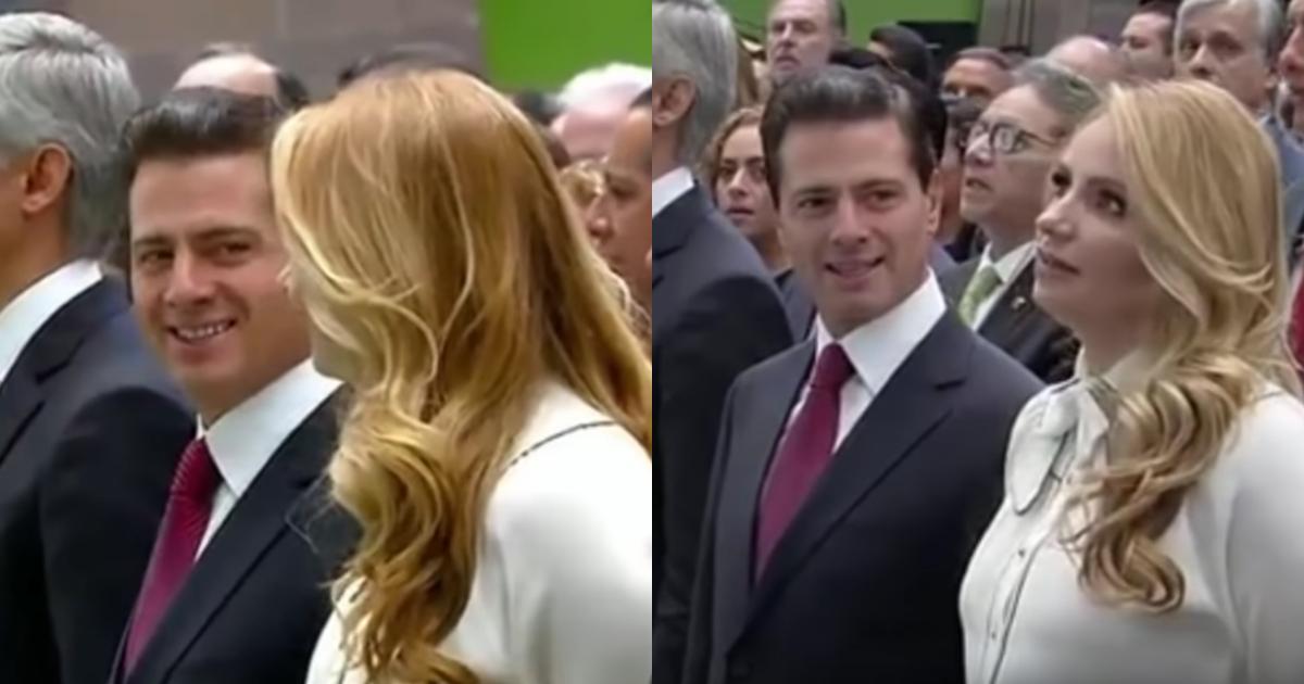 Enrique Peña Nieto Se Burla Angélica Rivera, Enrique Peña Nieto, Himno Estado De México, Angélica Rivera, Manuel Velasco, Alfredo Del Mazo