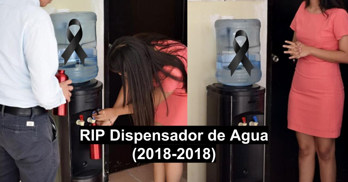 Dispensador de agua de Universidad de Campeche ya no sirve
