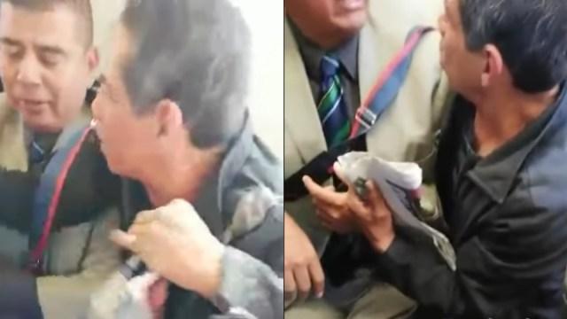 Video Señores Se Pelean Por Asiento En El Metro, Pelea De Señores En El Metro, Señores, Metro, Peleas En El Metro, Pelea Viejos Lesbianos
