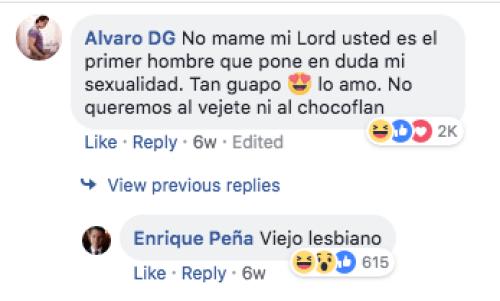 Peña Nieto respondiendo en redes sociales