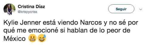 Kylie Jenner fan de Narcos México