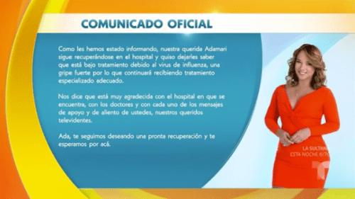 Adamari López sigue internada