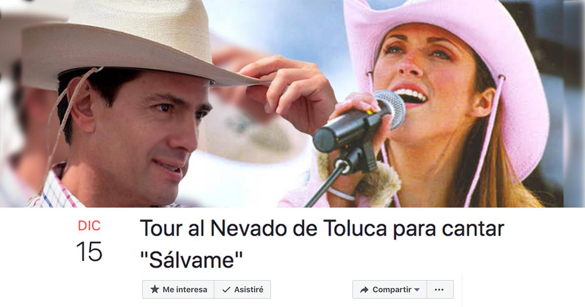 Peña Nieto Va Al Nevado De Toluca A Cantar Sálvame, Enrique Peña Nieto Sálvame, RBD, Nevado De Toluca, Memelas De Orizaba, Instagram