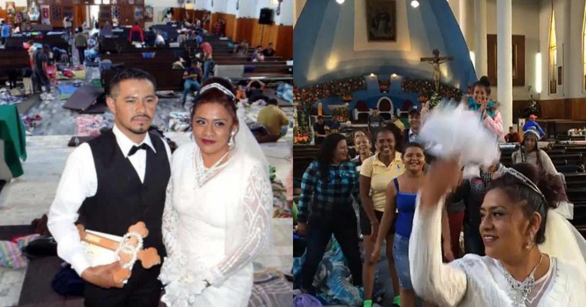 Hondureño Se Casa Con Poblana Caravana Migrante, Hondureño Se Casa Con Poblana, Hondureño, Caravana Migrante, Puebla, Boda