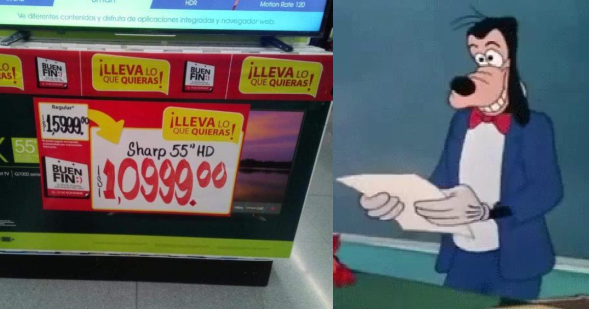 se equivocan en el buen fin y venden pantallas en mil pesitos