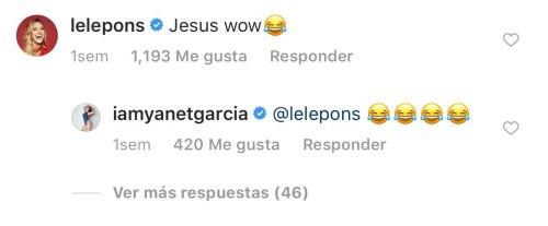 Lele Pons comenta foto de Yanet García
