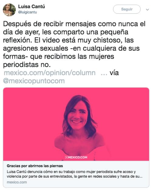 Reportera Luisa Cantú responde comentarios