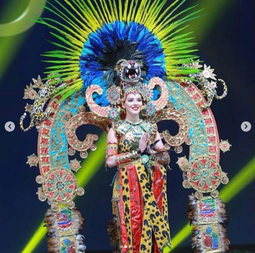 Miss México traje típico en Miss Universo
