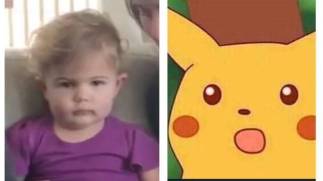 Reacción de niña al conocer hermanito