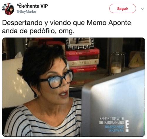 Memes denuncian acoso de Memo Aponte