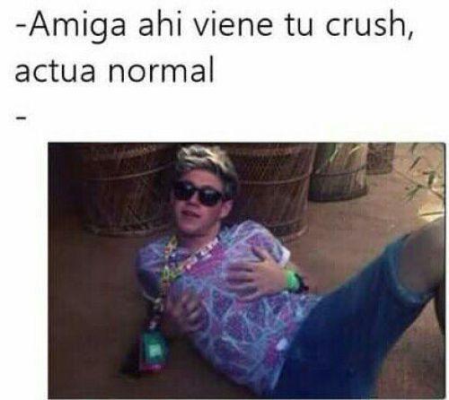 Ahí viene tu crush meme