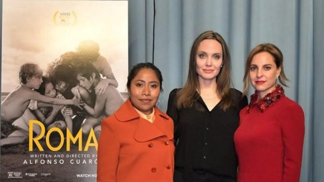 Yalitza Aparicio Y Angelina Jolie Juntas, Angelina Jolie, Marina De Tavira, Roma, Yalitza Aparicio, Alfonso Cuarón