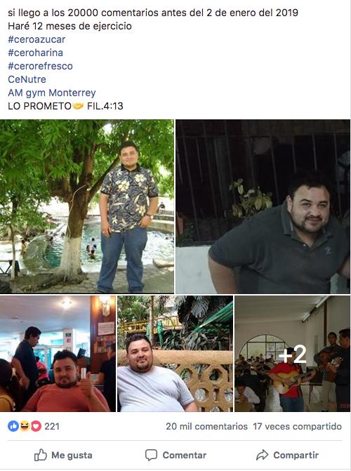 Reta a Facebook con tres millones de comentarios y ahora se inscribe al gimnasio