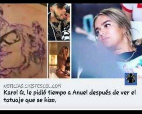 Los Memes Por El Tatuaje De Anuel Aa Y Karol G