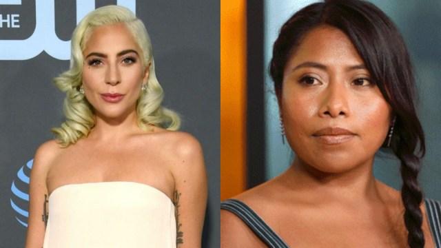 Cara Yalitza Aparicio Critic's Choice Awards Lady Gaga, Cara Yalitza Aparicio Con Lady Gaga, Lady Gaga, Yalitza Aparicio, Critic's Choice Awards, Mejor Actriz