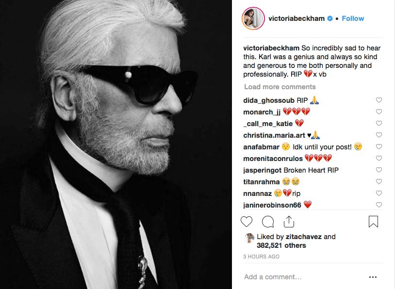 Reacciones de famosos a muerte de Karl Lagerfeld de Chanel