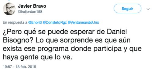 Daniel Bisogno llama ladrón de autopartes al actor Jorge Antonio Guerrero