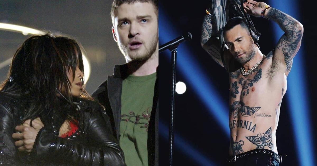 Fans De Janet Jackson Critican A Adam Levine, Adam Levine Sin Playera, Maroon 5, Janet Jackson, Super Bowl Medio Tiempo, Pezones