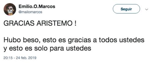Reacciones al beso de Aristemo
