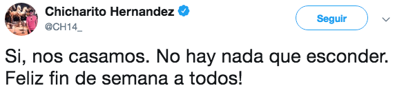 Chicharito se casó en secreto antes de jugar con selección