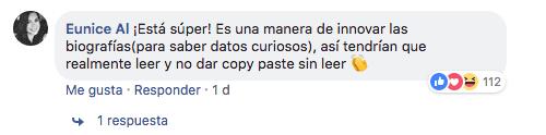 Niño presenta biografía de porfirio díaz con perfil de facebook