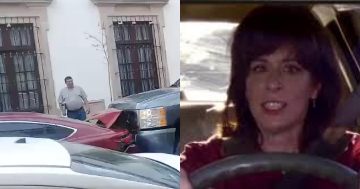 Choca Su Coche Dos Veces Por Celos, Mujer Choca Camioneta Por Celos, Lady Cheyenne, Choca, Durango, Automóvil