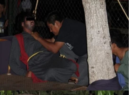 Judas de viacrucis en Yucatán casi muere ahorcado