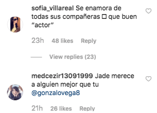 Gonzalo Vega engañó a Jade Fraser con Natalia Tellez