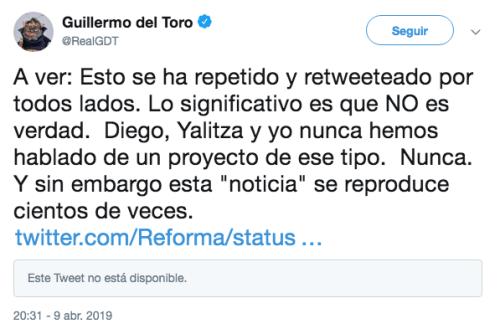 Guillermo del Toro desmiente trabajar con Yalitza Aparicio y Diego Luna
