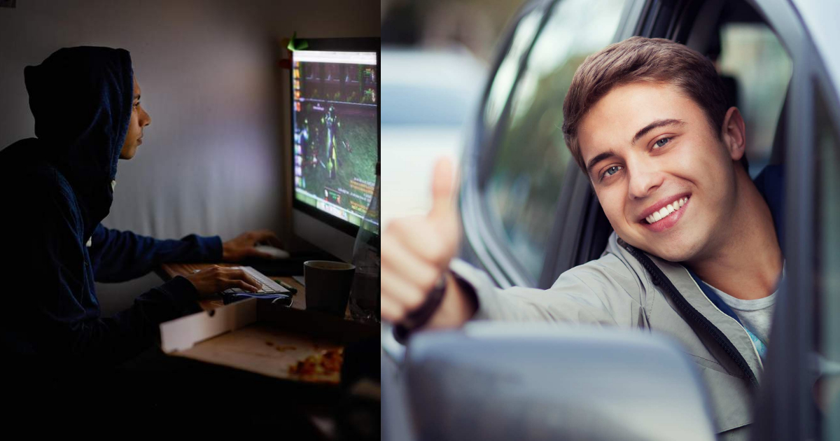 Hombres que juegan videojuegos son mejores conductores
