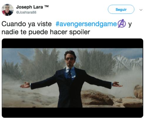 Memes del estreno de Avengers Endgame