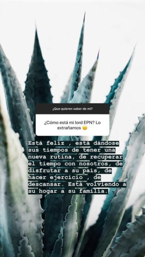 Paulina Peña revela detalles de la vida de Enrique Peña Nieto