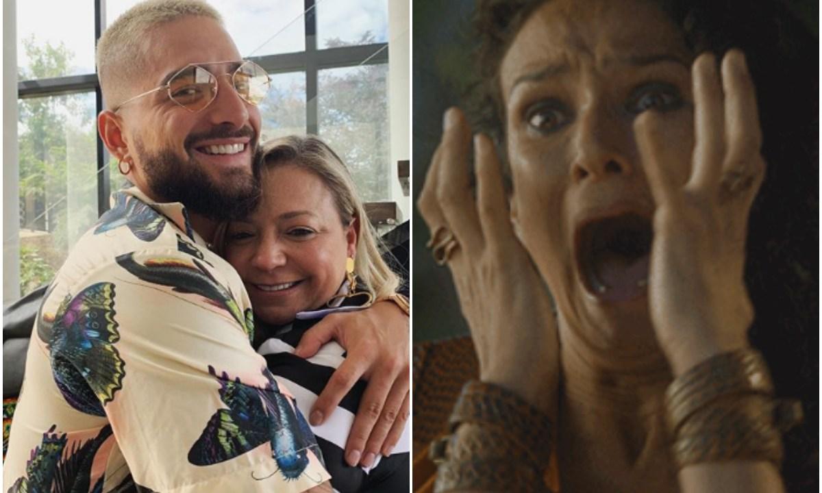 Maluma desata polémica por besar a su mamá en la boca
