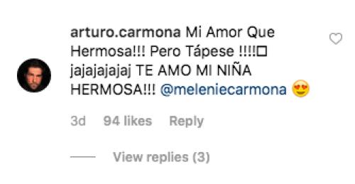 Arturo Carmona reacciona a la foto de su hija Melanie en bikini
