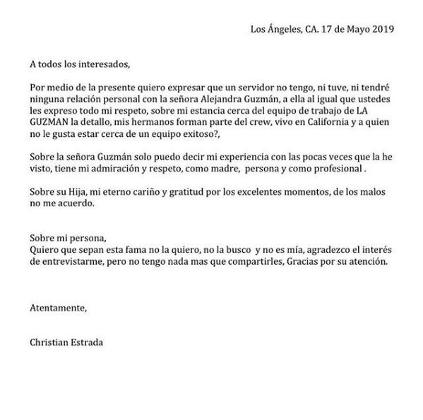 Ex novio Frida Sofía aclara relación con Alejandra Guzmán
