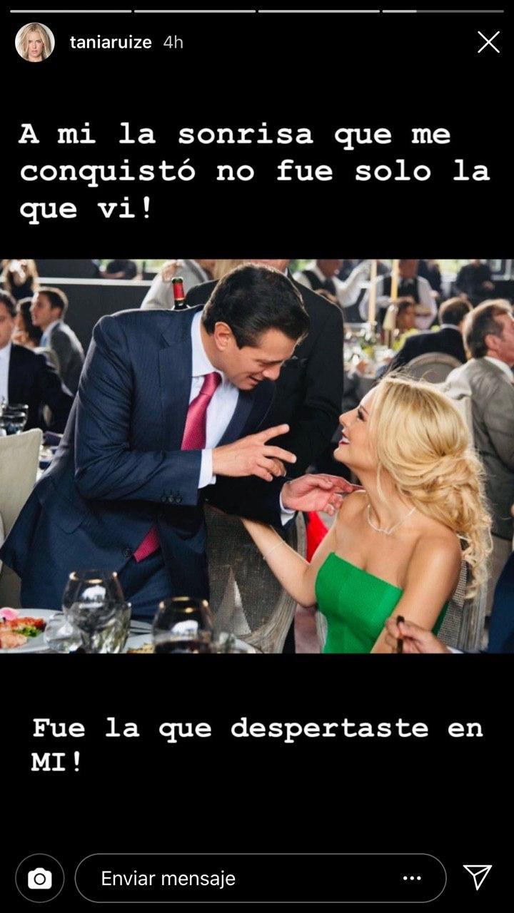Tania Ruiz hace declaración pública de amor a Peña Nieto