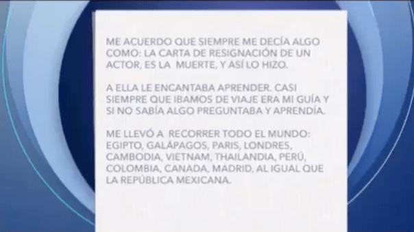 Difunden carta que la hija de Edith González le escribió como despedida