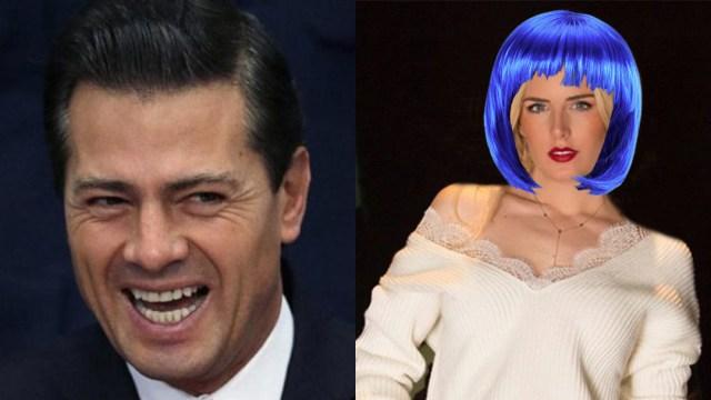 Peña Nieto pide a Tania Ruiz usar peluca para ocultarse