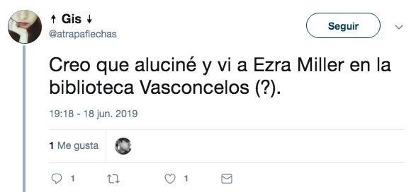 Ezra Miller está en México