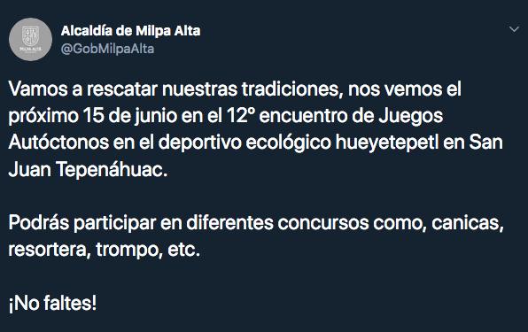Olimpiada de Balero, Canicas y Yoyo en Alcaldía Milpa Alta