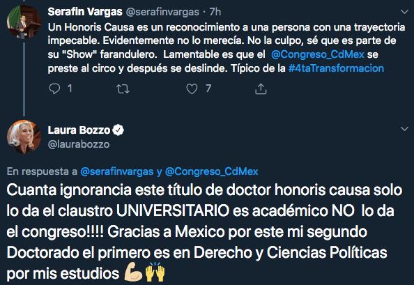 Laura Bozzo recibe doctorado Honoris Causa en México