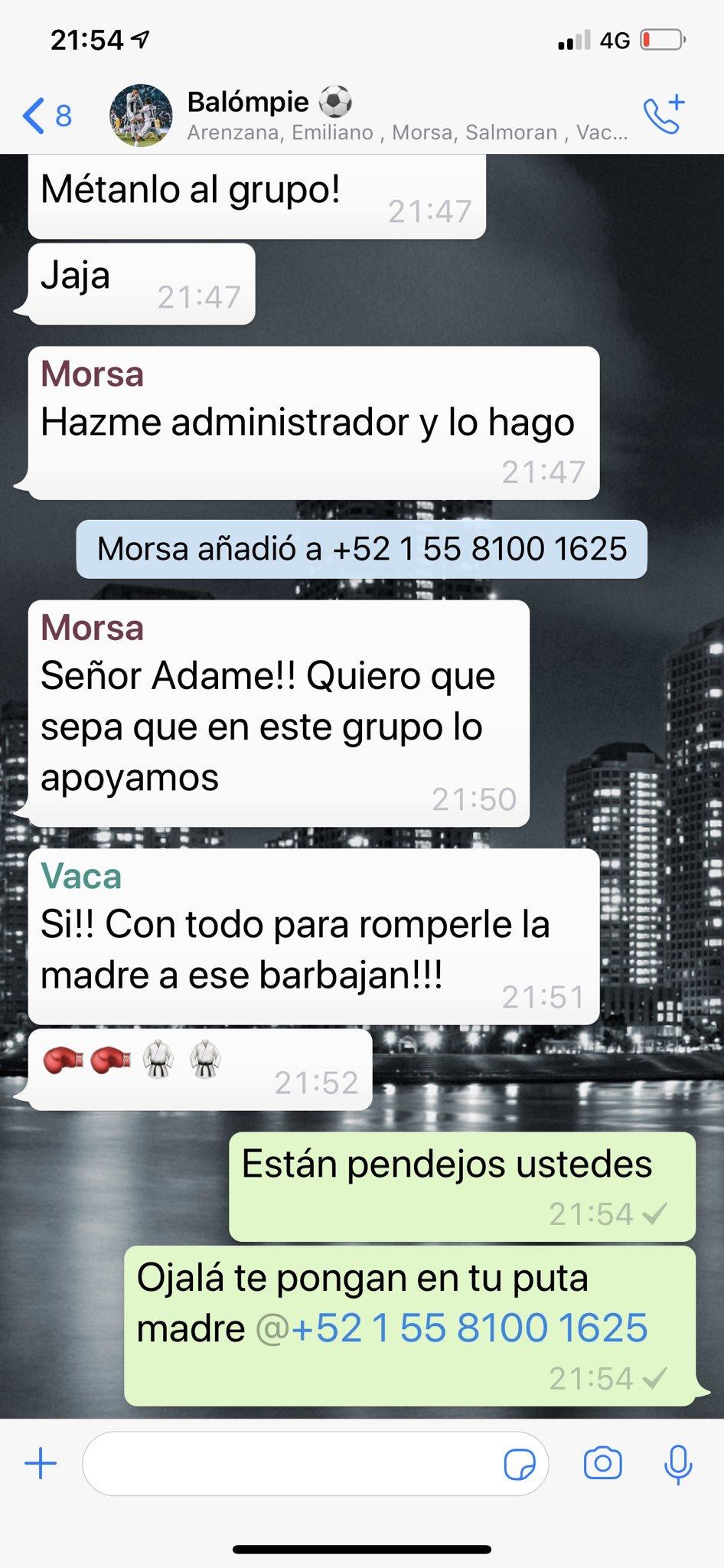 Carlos Trejo publica el número de Alfredo Adame