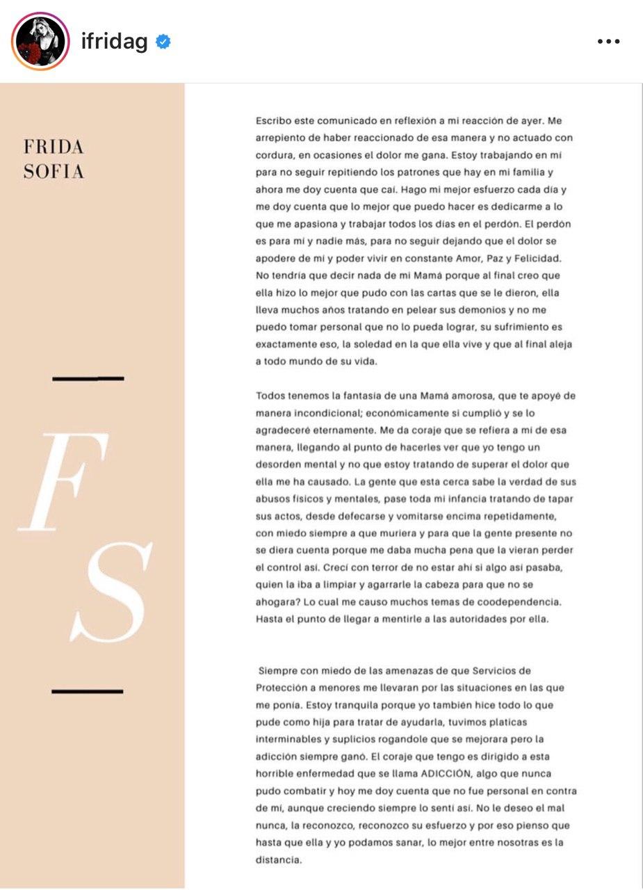 Frida Sofía rompe relación con Alejandra Guzmán