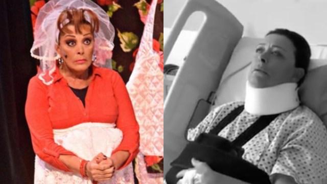 Sylvia Pasquel, Sylvia Pasquel Teatro, Sylvia Pasquel Lesión, Sylvia Pasquel Obra, No Seré Feliz Pero Tengo Marido, Sylvia Pasquel Se Disloca Hombro