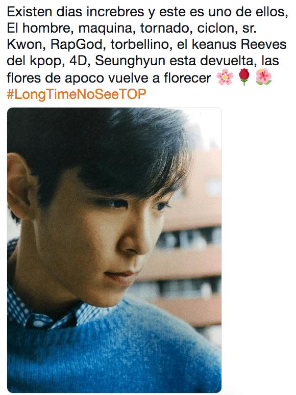 TOP de BIGBANG termina su servicio militar #LongTimeNoSeeTOP