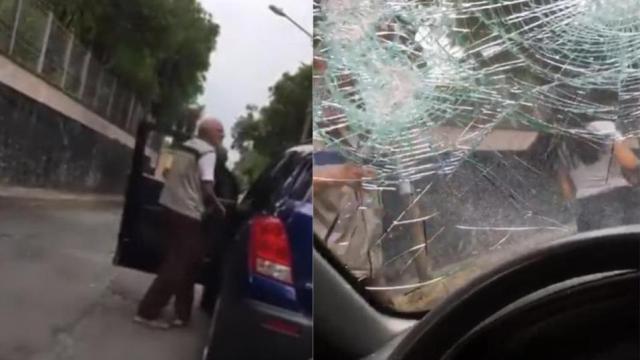 #LadyPiñata: mujer destroza auto con bate en Tlalpan